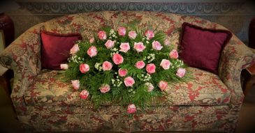 Pink Harmony Casket Flowers
