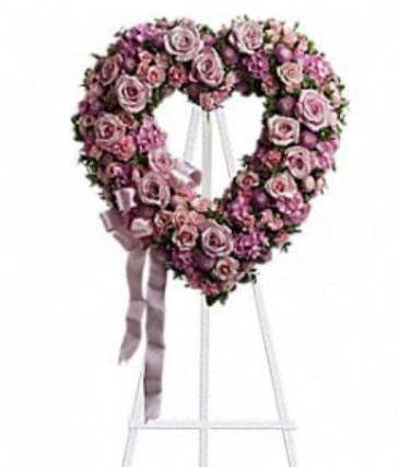 Pink heart wreath  Wreath