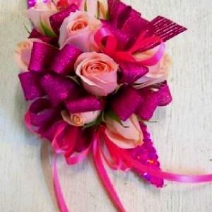 Pink Hot Pink Corsage