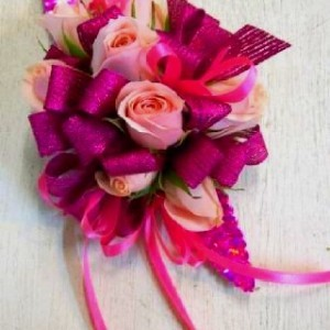 Pink Hot Pink Corsage