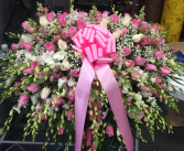 PINK IN WHITE HEART! Casket