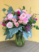 Pink is my Favorite Color Vase Arrangement