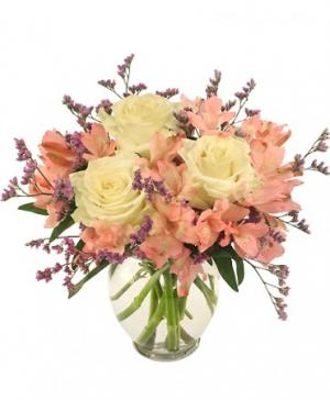 Pink Lace Arrangement in Rolling Meadows, IL | ROLLING MEADOWS FLORIST
