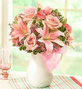 Pink lemonade boquet all around in crestview fl the flower basket pink lemonade boquet all around mightylinksfo