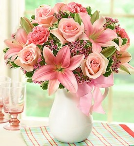 Pink Lemonade Bouquet™ Floral Arrangement in Burbank, CA | MY BELLA FLOWER
