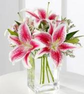 Pink Lily Bouquet Arrangement