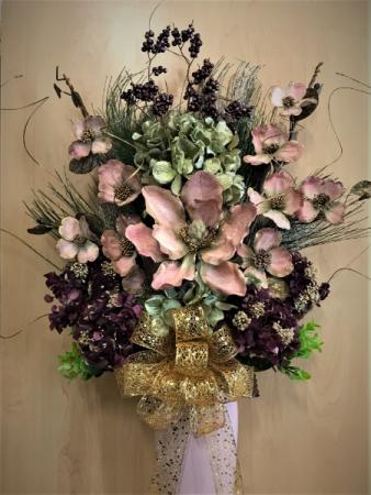 Pink Magnolia Standing Vase Arrangement