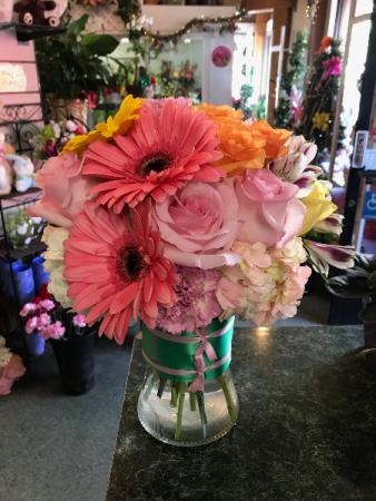 Pink Me Up Vase Arrangement