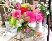 PINK MERCURY  FLOWER ARRANGEMENT