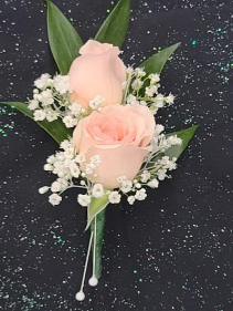 Pink Mini Rose Boutonniere  FHF-703 ****Pick Up Only****