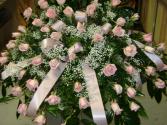 pink mist casket spray