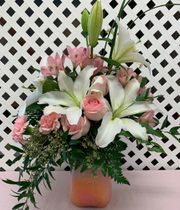 Pink n' Peach Paradise Bouquet Fresh Arrangement