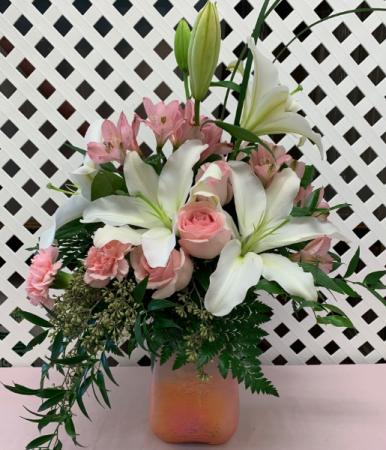 Pink n' Peach Paradise Bouquet Fresh Arrangement