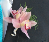 Pink Orchid (Double Bloom) Boutonniere