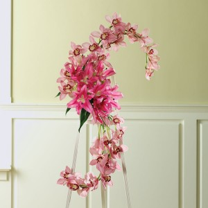 Pink Orchid Funeral Spray Funeral in Winston Salem, NC | RAE'S NORTH POINT FLORIST INC.