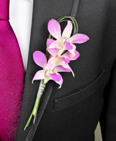 CHIC PINK ORCHID  Prom Boutonniere