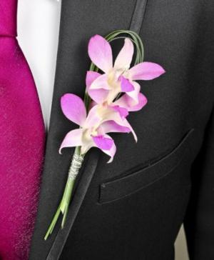 CHIC PINK ORCHID  Prom Boutonniere in Richland, WA | ARLENE'S FLOWERS AND GIFTS