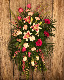 Pink Paradise Funeral Flowers