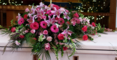 Pink Paradise Casket Arrangement