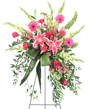 Grateful Heart Standing Spray in Ozone Park, NY | Heavenly Florist