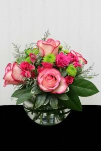 Pink Parfait Vase Arrangement