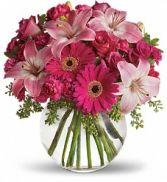 Pink Party Vase Arrangement