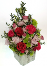 Pink Passion Container Arrangement
