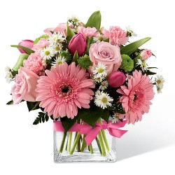 pink passion fresh arrangement