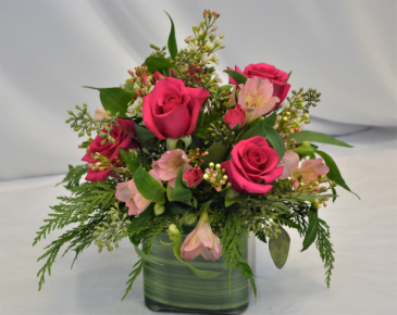 PINK PASSION FRESH FLOWER ARRANGEMENT