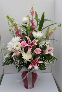 Pink Passion Fresh vase arrangement