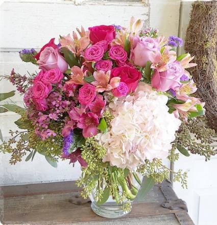 Pink Passion Vase Arrangement