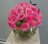 Pink Pavé Roses 3 Dozen rose arrangement