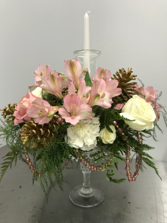 PINK PEARL CENTERPIECE CANDLE CENTERPIECE