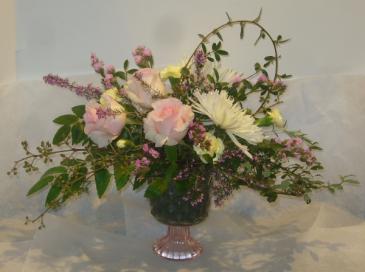 PINK PEDESTAL Floral Arrangement