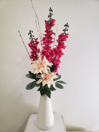 (SILK) Pink Perfection   Silk flower arrangement