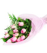 Pink perfectly wrapped roses - 938 Flowers