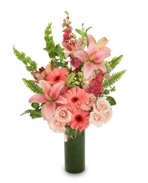 Get well flowers from the best little flower shop local roswell pink persuasion arrangement in roswell ga the best little flower shop mightylinksfo Images