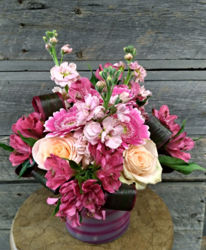 Pink Persuasion vase in Calgary, AB | LUXE FLORIST
