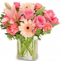 Pink Petals Vase Arrangement