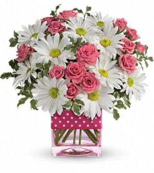 Pink Pok-a-Dot Bouquet Mothers Day in West Monroe, LA | ALL OCCASIONS FLOWERS AND GIFTS