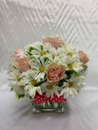 Pink Polka Dots Flower Bouquet