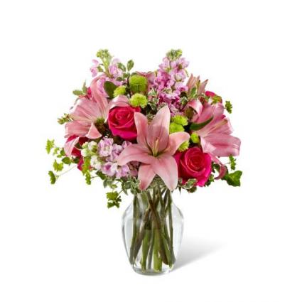 Pink Posh Bouquet PFD-E-100  (B08D)