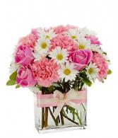 PINK POSIES Vase Arrangement