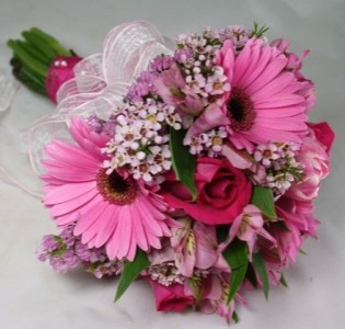 Pink Posy Hand-tied Bouquet