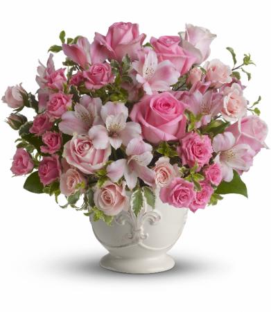 Pink potpourii fresh arrangement