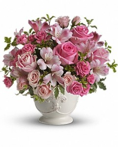 Pink Potpourri Bouquet with Roses in Jasper, TX | BOBBIE'S BOKAY FLORIST