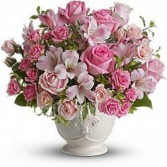 Pink Potpourri Sympathy Arrangement
