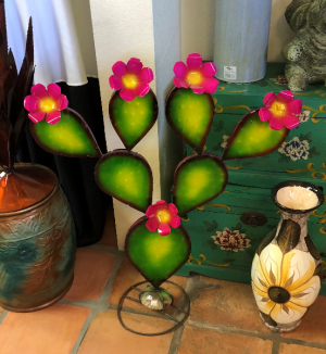 Pink Prickly Pear Metal Art  in Casa Grande, AZ | NATURE'S NOOK FLORIST, LLC
