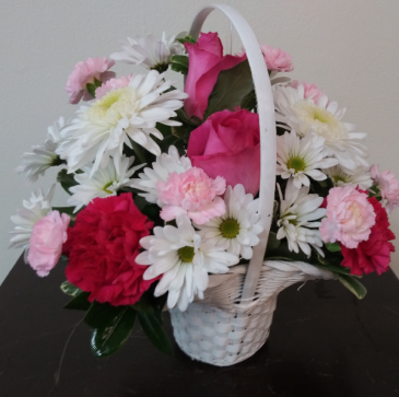 Pink Princess Basket of flowers