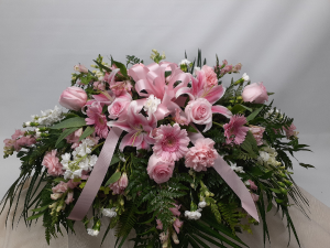 Pink Profusion Sympathy in East Templeton, MA | Valley Florist & Greenhouse